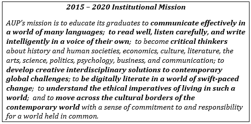 5 year Institutional Mission