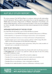 Self-Study Report Info Sheet Cover